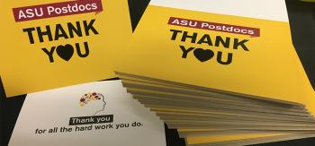 ASU Postdocs thank you notes