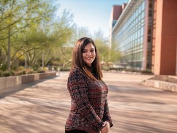 portrait of ASU grad student Preeti Lather