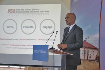 Albanian Prime Minister Edi Rama speaks about ASU's study