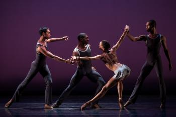 ballet dancers from the Dance Theatre of Harlem performing on stage