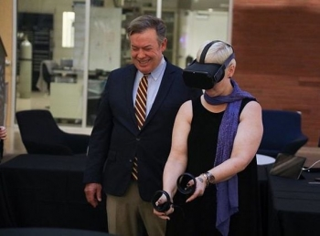 Research being done in the ASU Meteor Lab, which includes designing computer systems for augmented senses, is one example of the type of research undergraduates will focus on for the project
