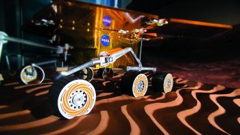 A Mars rover replica at ASU.