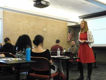 photo of Alissa Ruth teaching practicum course