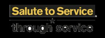ASU's Salute to Service logo.
