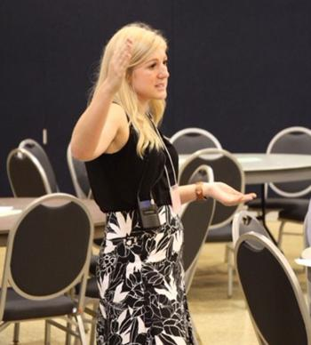 Samantha Calvin speaks at Human Trafficking Conference in Toledo, Ohio