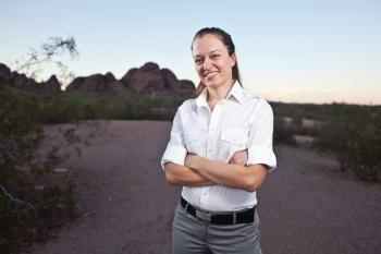 ASU College of Letters and Sciences outstanding graduate student Sarah Muench
