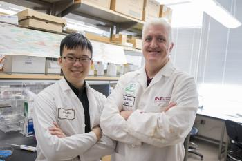 Doctoral candidate Chi-En Lin and mentor Jeffrey La Belle