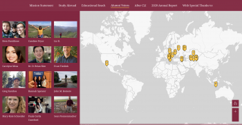 Map showing where different ASU institute alumni are from