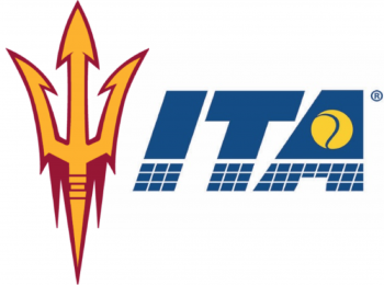 The logos of Sun Devil Athletics and the Intercollegiate Tennis Association