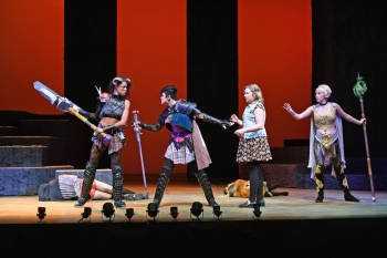 """Scene from the Herberger Institute production of the play """"She Kills Monsters."""""""