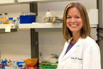 Microbiologist Shelley Haydel in her lab at the Biodesign Institute at Arizona State University.