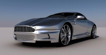 photo of silver sports car