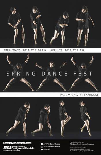 Poster for SpringDanceFest with dancer in different poses