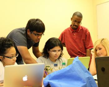 ASU student tutors others
