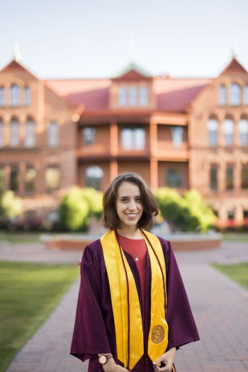 ASU School of Politics and Global Studies grad Tatum James