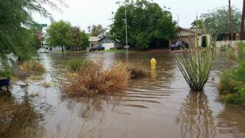 Flooded Tempe neighborhood