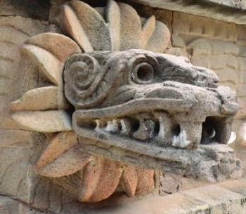 carved stone jaguar