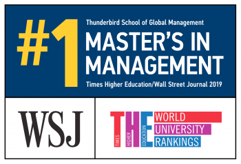 Thunderbird's Master of Global Management degree named No. 1