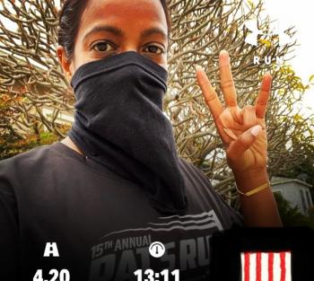 2020 Virtual Tillman Honor Runner in L.A.
