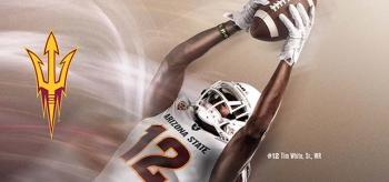 ASU wide receiver catching football