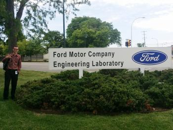 Fulton Schools' Troy Bruh at Ford Motor Company for a summer Internship.