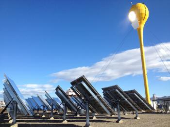 AORA Solar Tulip technology set up in Kibbutz Samar