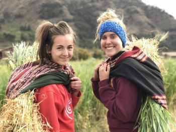 ASU students on their study abroad to Peru