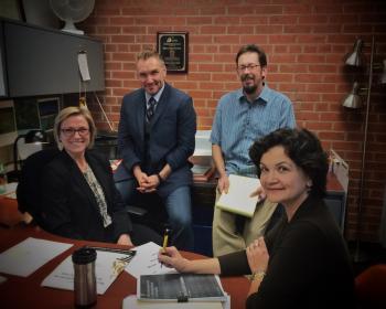 ASU's Gina Beyer, James Lewis, Ken Miller and Ginny Saiki