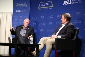 J. Craig Venter and ASU President Michael Crow