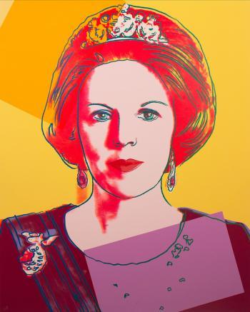 Andy Warhol, Reigning Queens (Queen Beatrix), 1985. Screenprint on Lenox museum