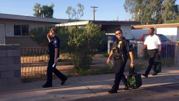 ASU and Tempe police officers and staff engage with neighbors