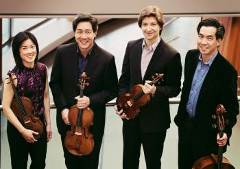 The Ying Quartet, pictured, are the 2016-17 visiting string quartet in residence at ASU's School of Music.