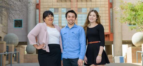 three ASU students