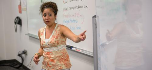 ASU doctoral student in English education Tracey Flores