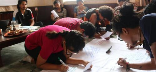 Nepalese Participants Making Poetry