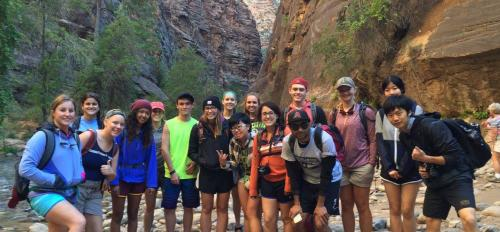 Sun Devil Outdoors on their hike in Hurricane, Utah