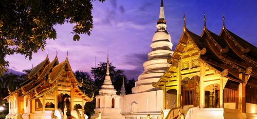The Phra Singh Temple in Chiang Mai, Thailand