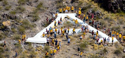 "A view of A Mountain during the 2016 Whitewash the ""A"" celebrations"