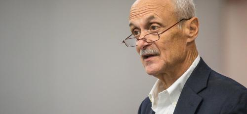 Former Secretary of Homeland Security Michael Chertoff speaks at an ASU event about privacy and security