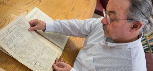 Arizona State University archivist Robert Spindler
