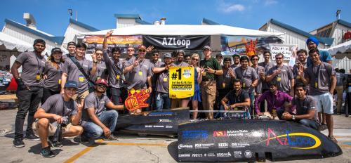 AZLoop team at SpaceX