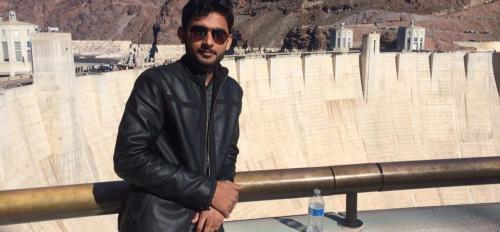 """Big dams in Pakistan are normally earth and rock fill dams, so there is a need to build concrete arc dams like Hoover Dam in Pakistan that are more impressive, efficient and modern,""  says Muhammad Ahsan Amjed, NUST. Photo courtesy of Muhammad Ahsan Amje"