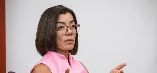 ASU professor Fernanda Santos speaks at an event
