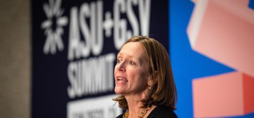 Author Liza Mundy speaks at ASU GSV Summit