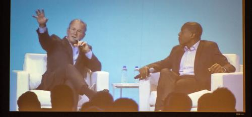 Former President George W. Bush speaks at the ASU GSV Summit