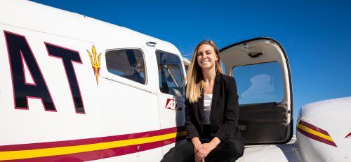ASU aviation grad Carlee Cramer May 2019