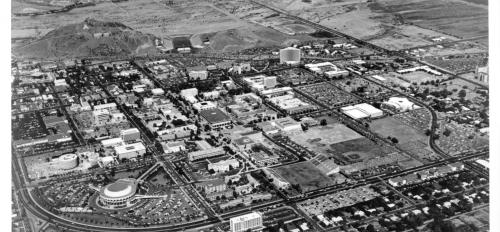 Aerial photograph of Tempe campus toward the northeast