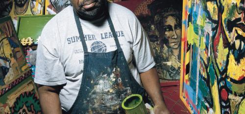 "portrait of Allen ""Big Al"" Carter painting"