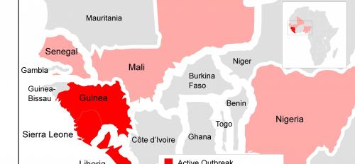 Ebola map of Africa