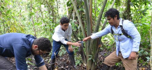 ASU's Hinsby Cadillo-Quiroz and students